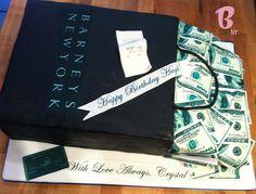 Shopping Bag Money Cake