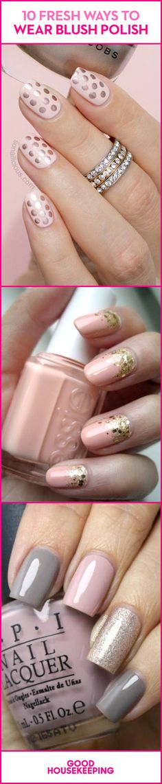 Save these blush nail designs for your next manicure! For more ideas, follow @goodhousemag on Pinterest.