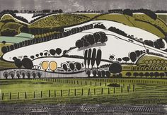 Graham Clarke – Highfield, Winter   Sussex Downs Seen at the the Towner Gallery Eastbourne