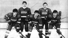 """The Big Red Machine"", Fetisov, Kasatonov, Krutov, Makarov och Larionov. SVT SVT2 Torsdag 20 feb 2014 kl 20.00"