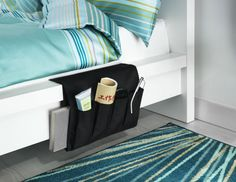 In the bedroom, the FLÖRT remote control pocket keeps books glasses, and cell phones close at hand.