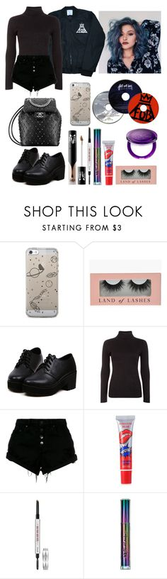 """""""Fall Out Boy concert"""" by billietheweirdo ❤ liked on Polyvore featuring Blue Vanilla, Nobody Denim, Kat Von D, Benefit and Urban Decay"""