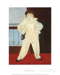 Pablo Picasso exhibition poster - Paolo as Pierrot - museum print - offset lithograph - 1992 Pablo Picasso, Pierrot, Beautiful Posters, Exhibition Poster, Vintage Art, Vivid Colors, Modern Art, Fine Art Prints, Museum