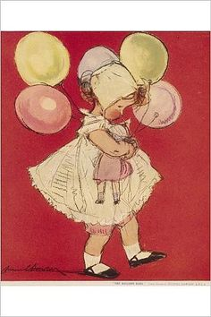 Photographic Print of The Balloon Baby by Muriel Dawson