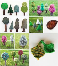 There are five different tree and four different leaf knitting patterns not to mention some stitched tree and leaf ideas. Leaf Knitting Pattern, Knitting Patterns, Tree Leaves, Kids Rugs, Stitch, Paper, Projects, How To Make, Blog