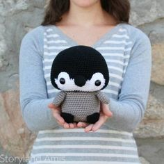 Cuddle-Sized Danny the Penguin amigurumi pattern by Storyland Amis