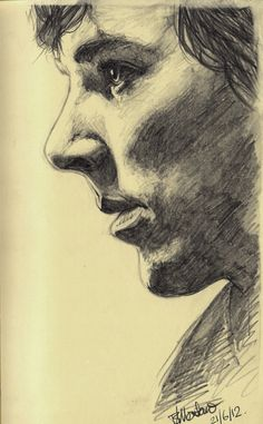 Moleskin Sketch: Cumberbatch by Montaneous.deviantart.com on @deviantART
