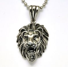 Lion Head Men's Stainless Steel Pendant Necklace Gothic & Biker Look with Much Sturdy Chain 24inches Jewelry 4 Men http://www.amazon.com/dp/B00H422XH0/ref=cm_sw_r_pi_dp_eVygub11QCGAN