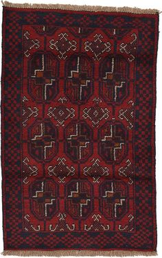 Red Balouch Area Rug
