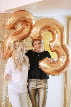 a golden themed party for a golden birthday! #23onthe23rd