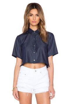a.c.e. Monroe Crop Top in Rinse