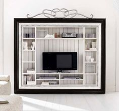 Classic style wooden TV wall unit - HAMPSHIRE 8110 - Flai