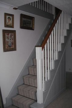 The only photo I have of the stairs at the moment. The colour scheme was already changed when we moved here.