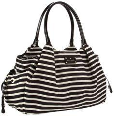 Kate Spade New York Kate Spade Nylon Stevie Baby Bag Diaper Bag,Black/Cream,One Size.