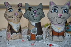Pincushion Kitties Pin Cushions, Kitty, Projects, Little Kitty, Log Projects, Blue Prints, Kitty Cats, Kitten, Cats