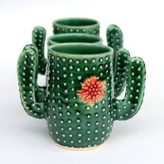 Cactus Mug - Succulent Cup - Coffee Tea Cup - As Seen on Etsy Commercial & Guess That Gift - Handmade Ceramic Pottery Handmade Home Decor, Handmade Pottery, Handmade Gifts, Handmade Ceramic, Etsy Handmade, Cactus Decor, The Potter's Wheel, Unique Wedding Cakes, Pottery Making