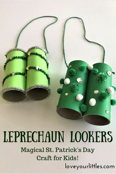 Celebrate the magic of St. Patrick's Day by making Leprechaun Lookers! Kids will have so much fun creating these and making them unique! #stpatricksday #craftsforkids #festive #kidsactivities