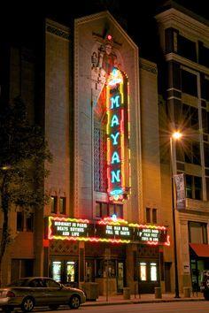 M A Y A N Theatre sign in Denver, Colorado ~Repinned Via Dee Gordon