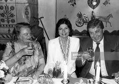 Soraya (Esfandiary Bakhtiary) *-+ Kaiserin von Persien 1951-1958, Iran - mit Mutter Eva und Bruder Byhan in Muenchen - 1986