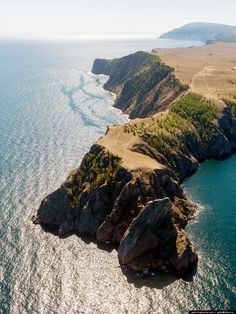Байкал с вертолета | Самая северная точка острова Ольхон — мыс Хобой