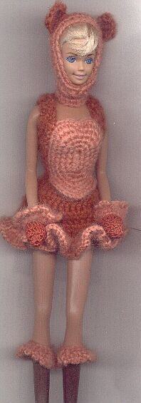 free pattern to crochet barbie a bear costume