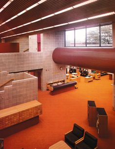 1970s commercial institutional Design and Decor. What you bet exterior structure is 'Brutalist'?