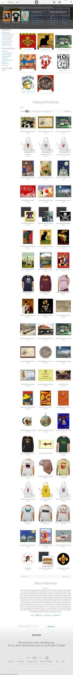 Jerry Schwehm, New Orleans artist sells art on the web. --The website 'http://www.zazzle.com/figstreetstudio' courtesy of @Pinstamatic (http://pinstamatic.com)