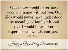 Happy Wedding Anniversary Quotes for my Wife Cheah Saw Lee 50th Anniversary Wishes, 25th Wedding Anniversary Quotes, Anniversary Quotes For Husband, Happy Marriage Anniversary, Wedding Quotes, Today Quotes, Wife Quotes, Husband Quotes, Couple Quotes