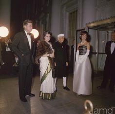 JFK, Indira Gandhi, and Jackie Kennedy
