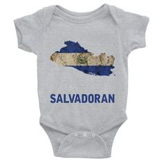The El Salvador Flag Baby Short Sleeve One-Piece