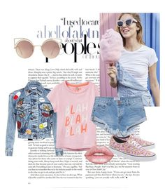 """Untitled #7"" by paulaner1 ❤ liked on Polyvore featuring Joules, OneTeaspoon, Vans, Lime Crime, MANGO, Summer, love, Pink and loveyoins"