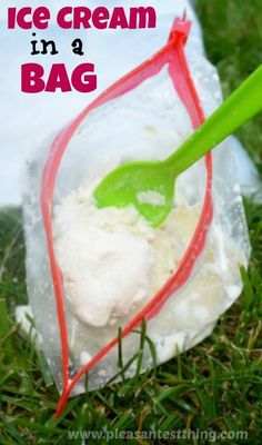 Summer Fun- Ice Cream in a Bag ~ This is a great activity to do with kids and it is a great project for states of matter science.  Perfect end of the year activity.