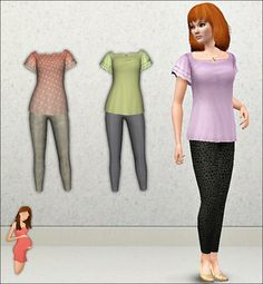 Sims 3 long maternity dress outfit