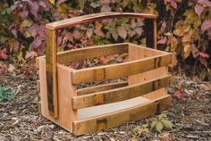 Basket Made out of Wine Barrel Staves by Alpine Wine Design.