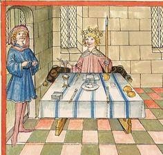 Bibel AT, dt.: Könige, Paralipomenon I und II, Esra, Tobias, Judith, Esther, Hiob — Stuttgart (?) -  Werkstatt Ludwig Henfflin, 1477 Cod. Pal. germ. 17 Folio 31v