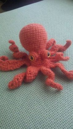 Turned into a dish scrubbie (Don't close the bottom and instead of stuffing, fill with scour pads and have one stick out of the bottom).  Free pattern at: http://static.knittingparadise.com/upload/2012/2/17/1329475187984-octopus.pdf