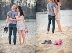 Engaged: Wes   Lexi | Lakeside Downtown Engagement