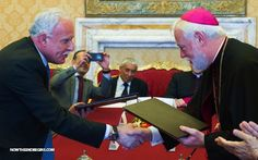 VATICAN SIGNS TREATY WITH PALESTINE: It's GO time! Pope Francis, in his role as the False Prophet, is doing everything he can to stack the deck against Israel. Today's official peace treaty and recognition of the state of Palestine greatly advances the prophetical time clock. Israel take note, the Pope and the Vatican are your sworn enemies, as they have once again proved today. Tick, tock…anyone paying attention? #Vatican #Palestine http://www.nowtheendbegins.com/blog/?p=33757