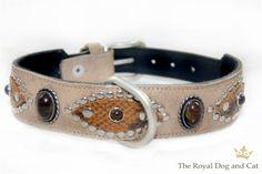 wild und einzigartig chic - das Hundehalsband Apachen, 37 - 77 cm, auf Wunsch mit Leine