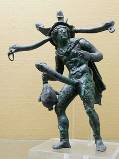 A bronze polyphallic tintinnabulum of Mercury from Pompeii: the missing bells were attached to each tip (Naples Museum). In ancient Rome, a tintinnabulum (less often tintinnum) was a wind chime or assemblage of bells. A tintinnabulum often took the form of a bronze phallic figure or fascinum, a magico-religious phallus thought to ward off the evil eye and bring good fortune and prosperity.