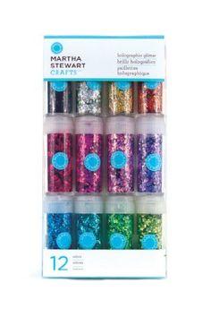 Martha Stewart Crafts Holographic Glitter, 12-Pack