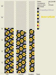 8 around tubular bead crochet rope pattern