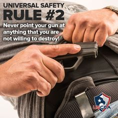 Universal Gun #Safety Rule #2. On the other hand, when the shit hits the fan..... better be prepared to shoot and hit first time..... practice practice practice....