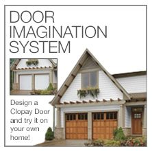 Use Clopay's Door Imagination System to design a new garage door and see it on your home. Just upload a digital photo to get started. www.clopaydoor.com.