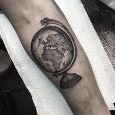 World Globe Tattoo