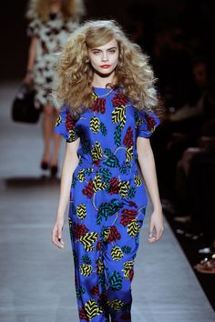 "wgsn: "" Must. Marc by Marc Jacobs jumpsuit "" World Trends, Barnet, Big Hair, Hair Inspiration, Print Patterns, Marc Jacobs, Nice Dresses, Jumpsuit, Short Sleeve Dresses"