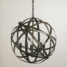 Metal Orb Chandelier | World Market $150