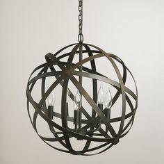 Metal Orb Chandelier | World Market $150