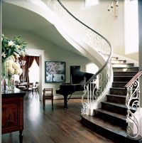 Double Staircase with Grand Piano