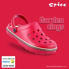 Garden Clogs – all weather stylish and comfortable #footwear collections only at Spice Footwear for your day-to-day needs. Get more details at www.spicefootwear.com today!! #clogs